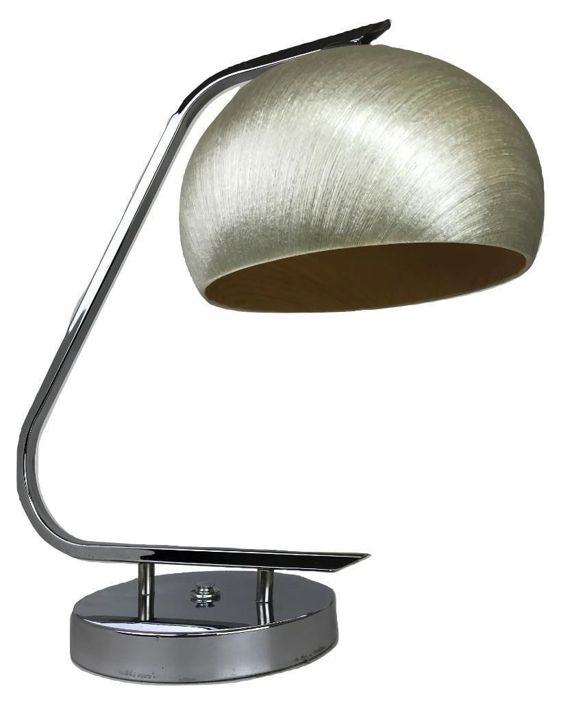 Mcm Harvey Guzzini Italy Fiberglass Chrome Desk Table Lamp