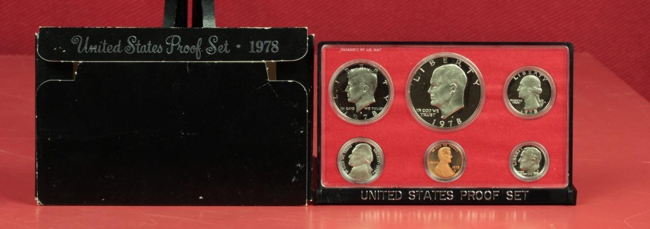 1978 US Mint  Proof Set 6- Coins with Original box