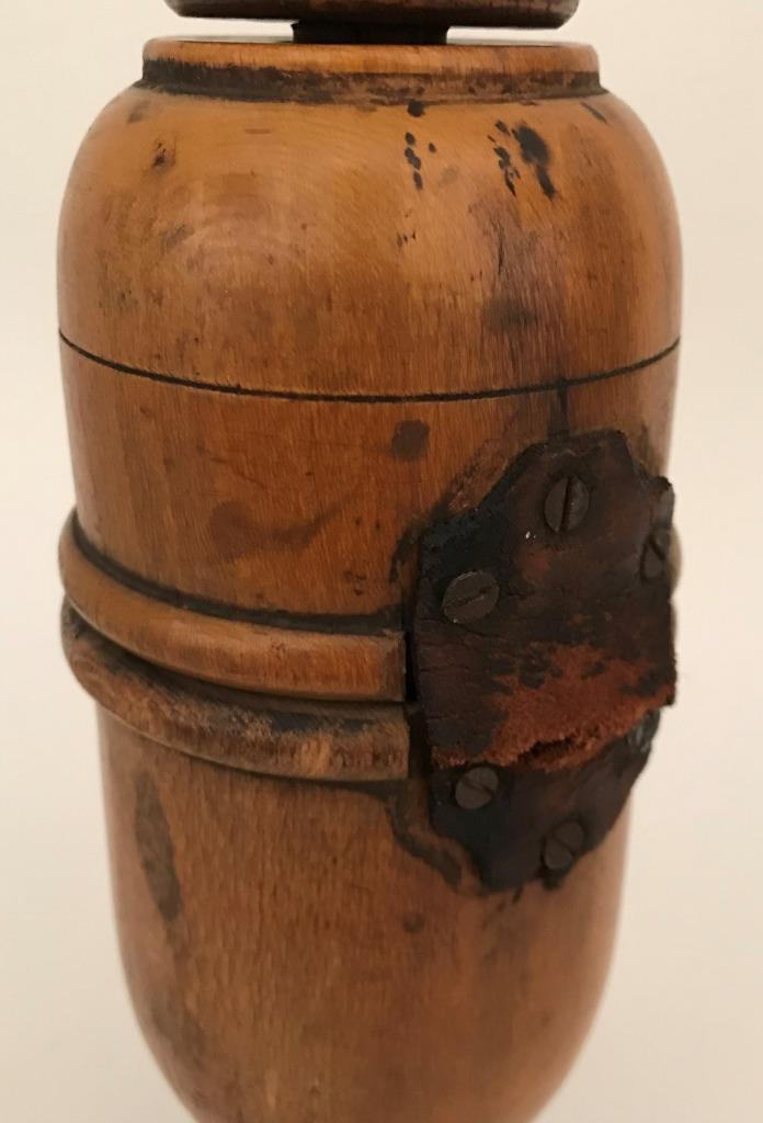 Vineyard French Treen Bottle Corker Elm Wood Primitive
